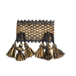 "Trend 2.75"" 01746 Fringe Black Gold"