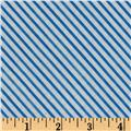 Snow Fun Diagonal Stripe Blue