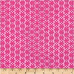 Riley Blake Wildflower Meadow Flannel Flower Hot Pink