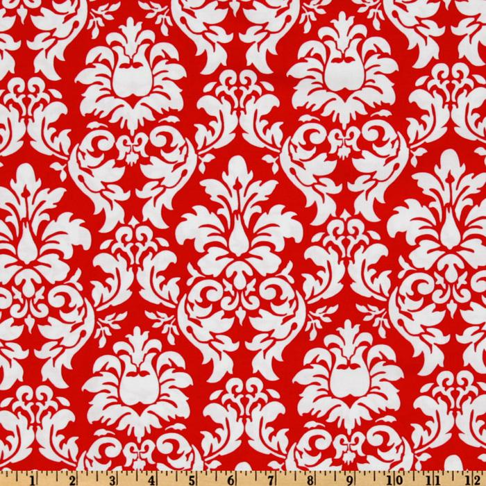 michael miller dandy damask rouge discount designer fabric