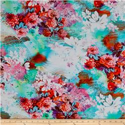 Rayon Digital Challis  Luau Dream Multi