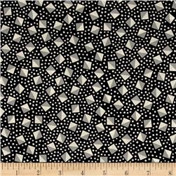 Kaufman London Calling Lawn Diamond Dot Black