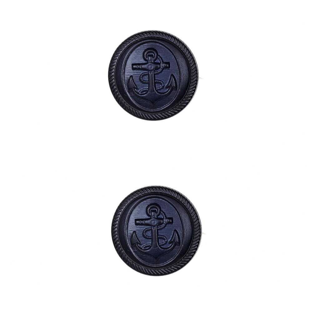 Dill Novelty Button 7/8'' Nautical Navy