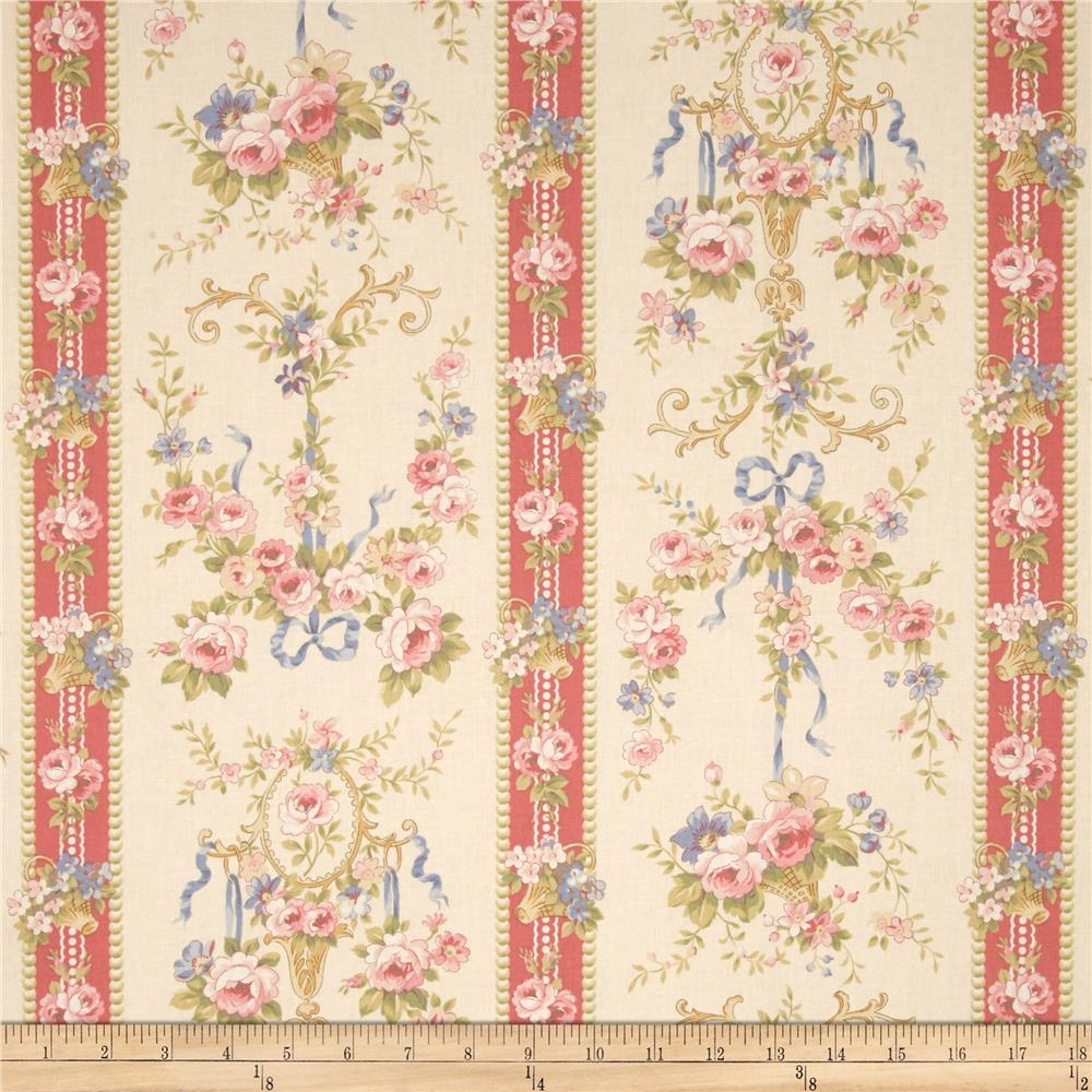 Bon Bon Bebe Floral Border Stripe Cream