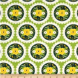 Bright Side Doily Green