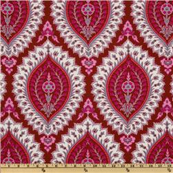 Amy Butler Alchemy Organic Imperial Paisley Ruby Fabric