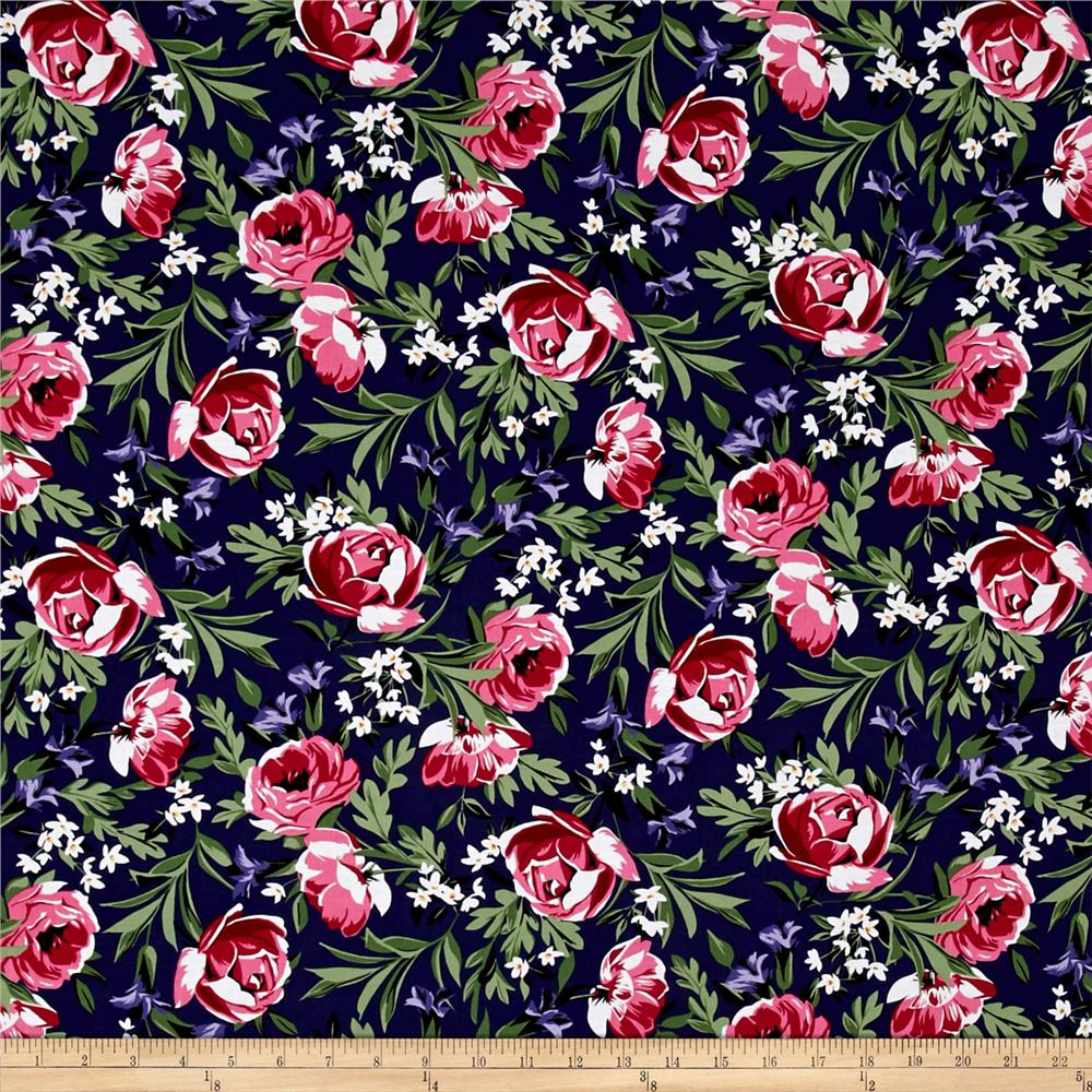 michael miller bed of roses bed of roses sapphire discount