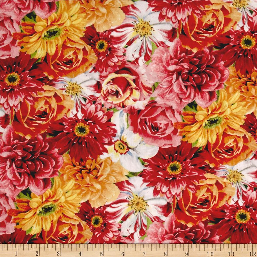 Rainbow Garden Packed Floral Multi