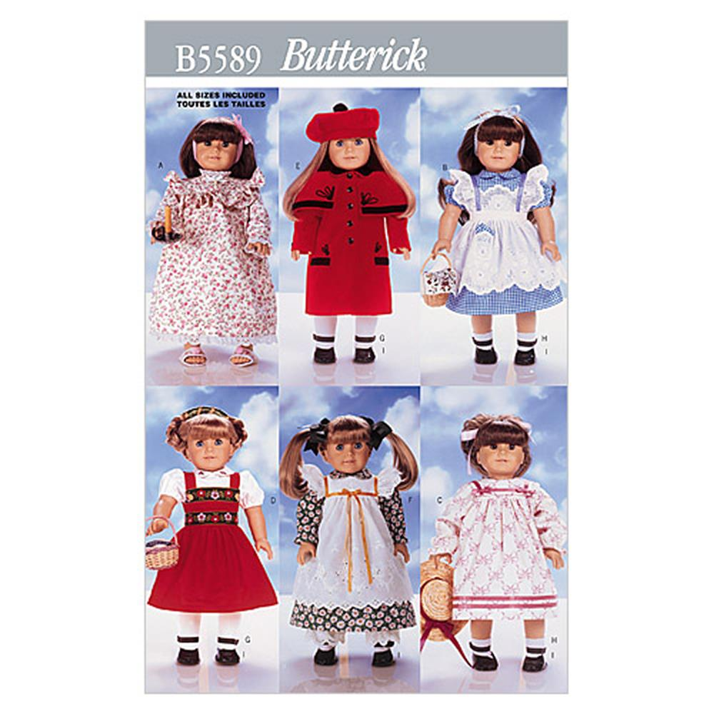 "Butterick 18"" (46cm) Doll Clothes Pattern B5589 Size OSZ"