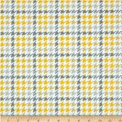 Robert Kaufman Cozy Cotton Flannel Houndstooth Yellow