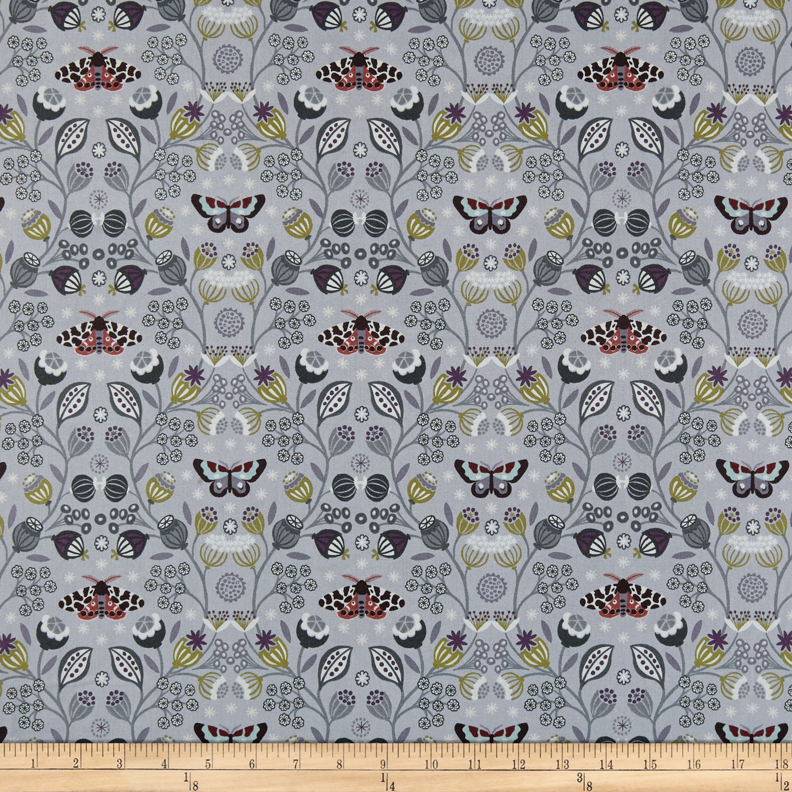 INOpets.com Anything for Pets Parents & Their Pets Lewis & Irene Winter Garden Winter Garden Grey Fabric