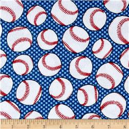 Flannel Baseballs Blue
