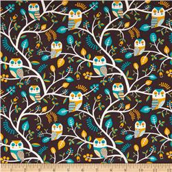 Kokka Trefle Animals Owl & Tree Canvas Brown