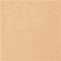 Basic Cotton Rib Knit Eggshell