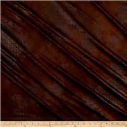 Italian Alligator Faux Suede Leather Brown