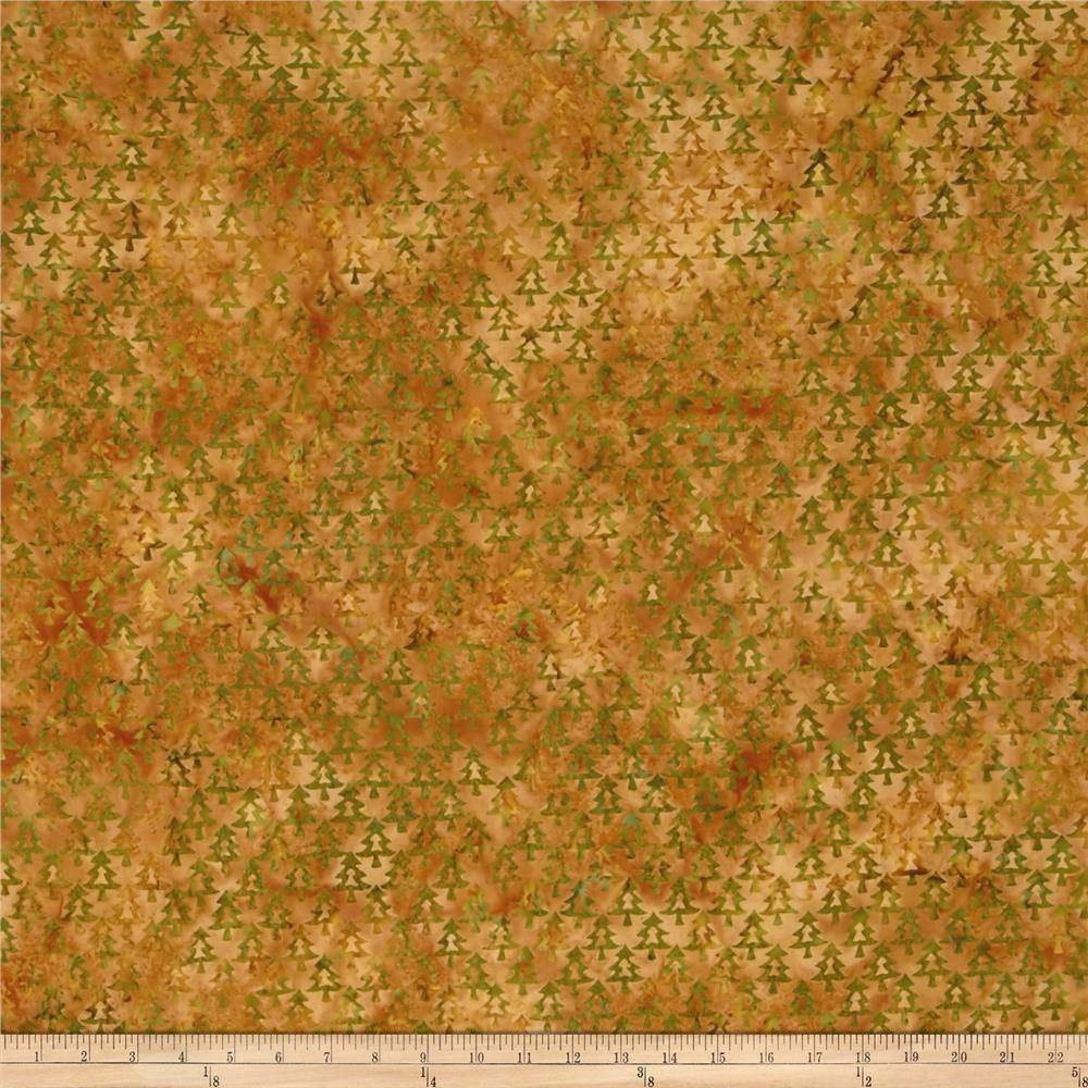 Island Batik Tree Gold/Green