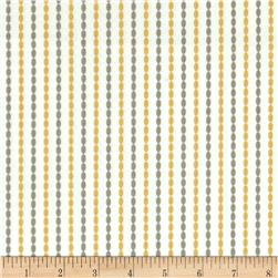 Moda Sundrops Beaded Stripe Taupe/Yellow