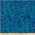 Indian Batiks Paisley Scroll Blue