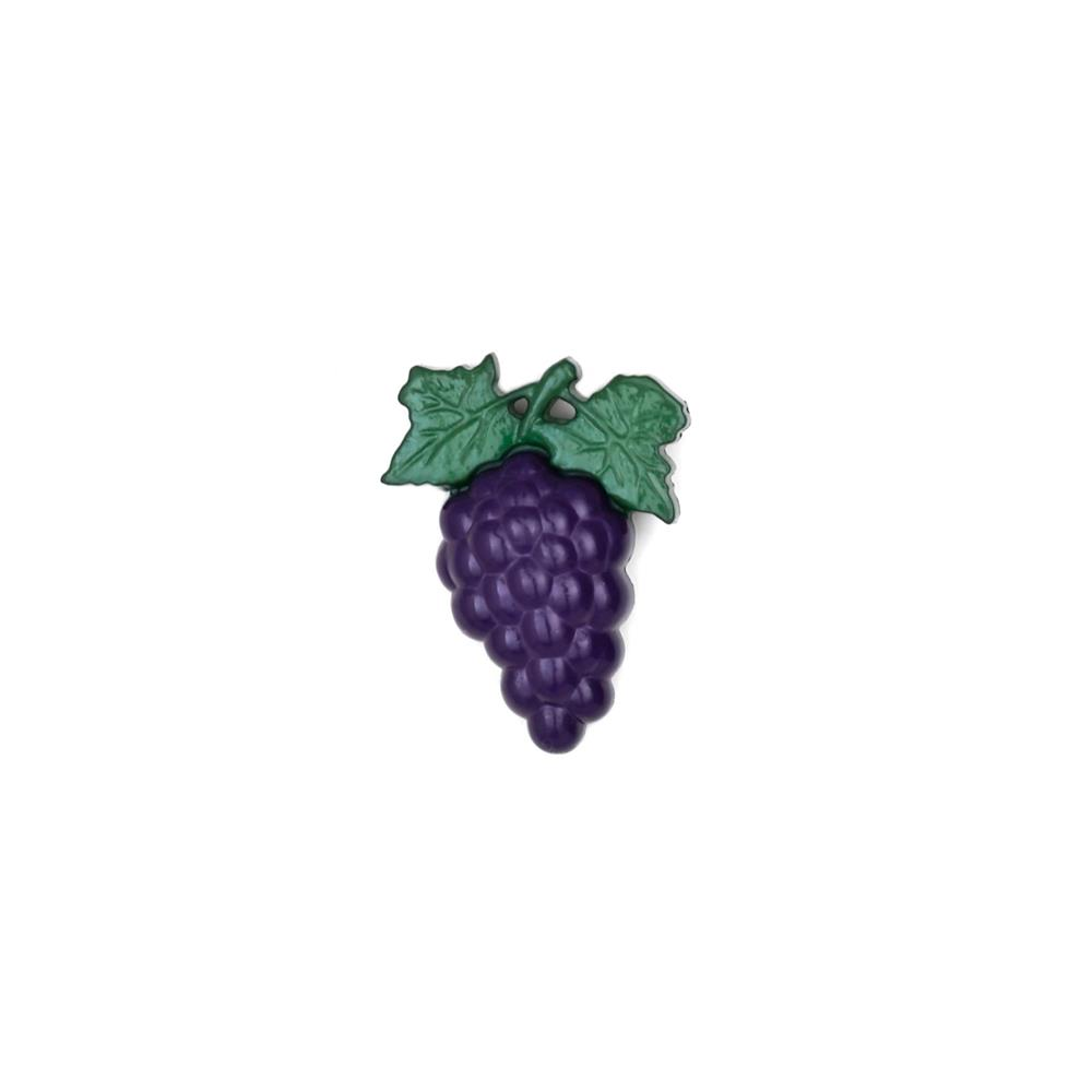 "Dill Novelty Button 1 1/8"" Grape Bunch Purple/Green"