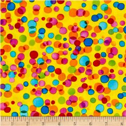 Timeless Treasures Paradise Dots Yellow