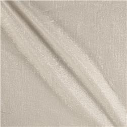 World Wide 110'' Metallic Sheer Ivory Fabric