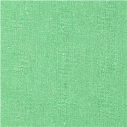 Designer Essentials Linen/Cotton Solid Green Fabric