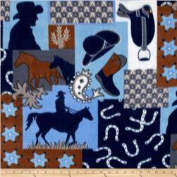 Wildlife Fleece Nordic Print Blue