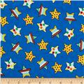 Flannel Novelties Medium Tossed Stars Blue