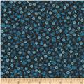 Timeless Treasures True Blue Calico Navy