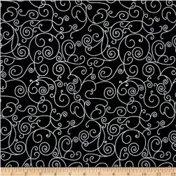 110 In. Wide Quilt Back Willow Black/White