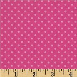 Baby Talk Dots Pink Fabric