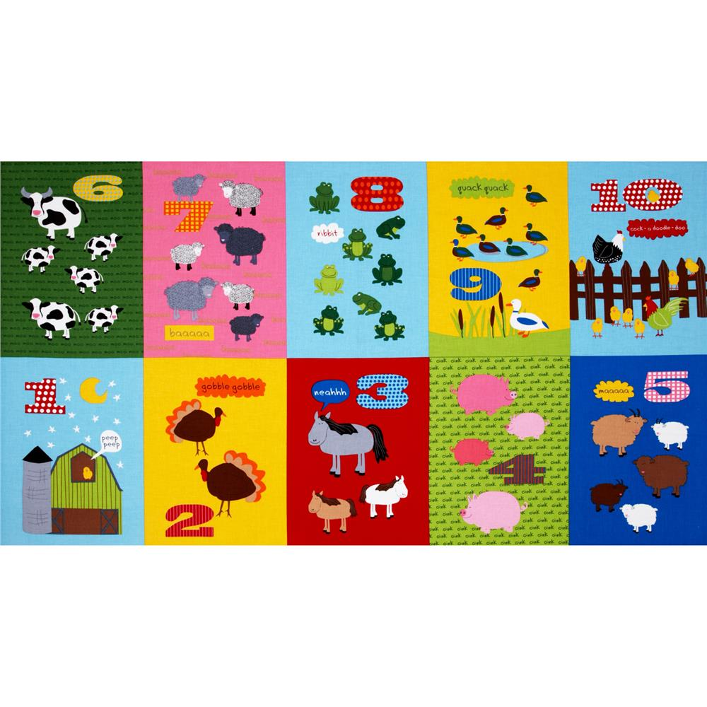 Barnyard Counting Panel Large Barnyard Blocks Adventure Multi
