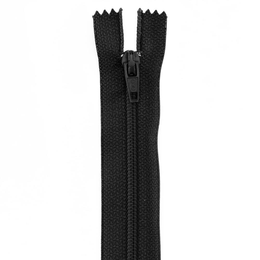 14'' Poly All Purpose Zipper Black