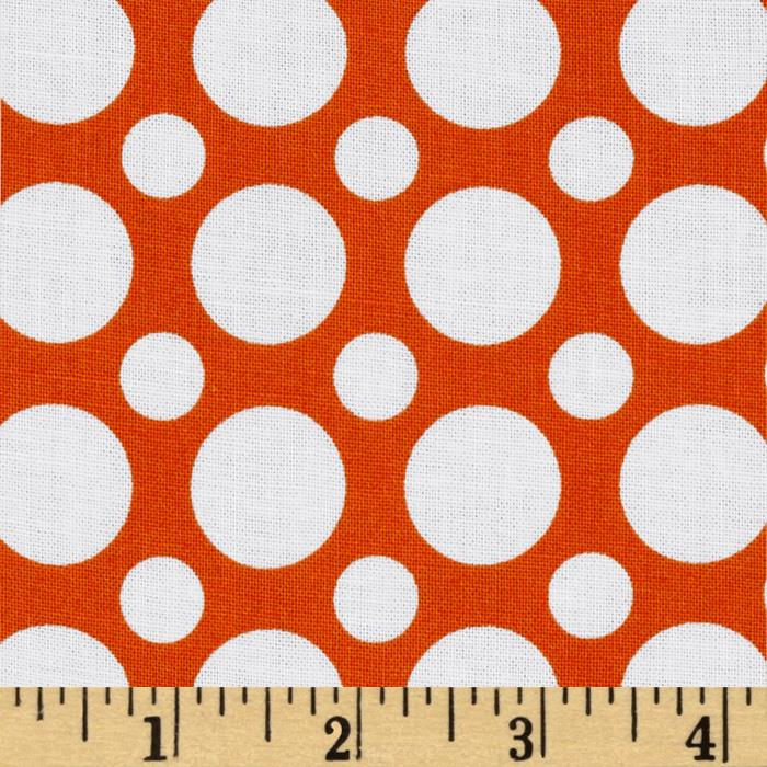 Kaufman Spot On Large Dot Tangerine
