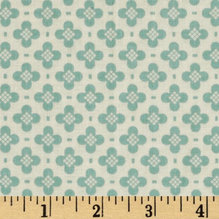 Riley Blake Sidewalks Hopscotch Teal