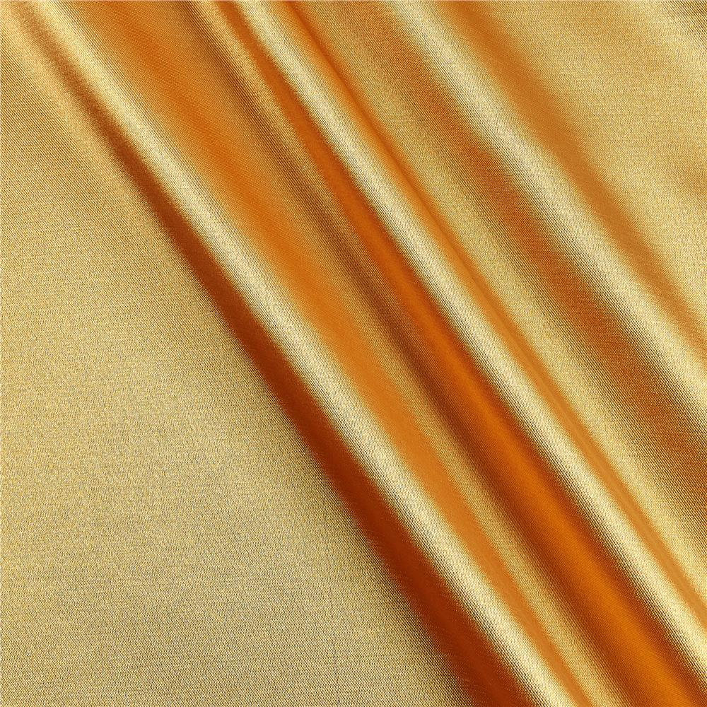 Stretch Charmeuse Satin Sungold Fabric By The Yard