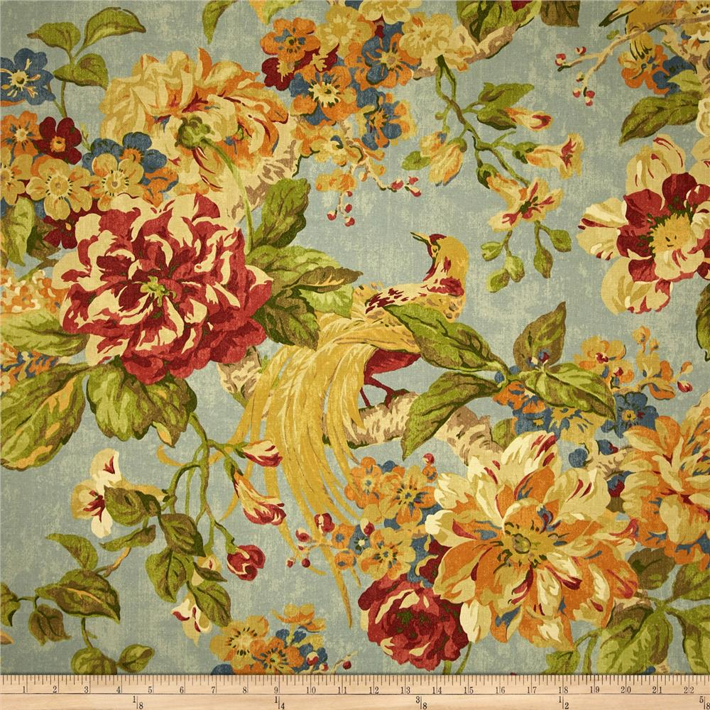 Waverly Floral Engagement Twill Woodland Fabric By The Yard