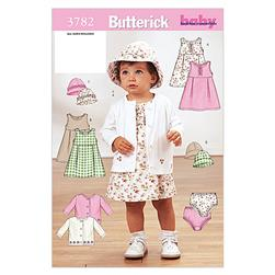 Butterick Infants' Jacket, Dress, Panties and Hat Pattern B3782 Size OSZ