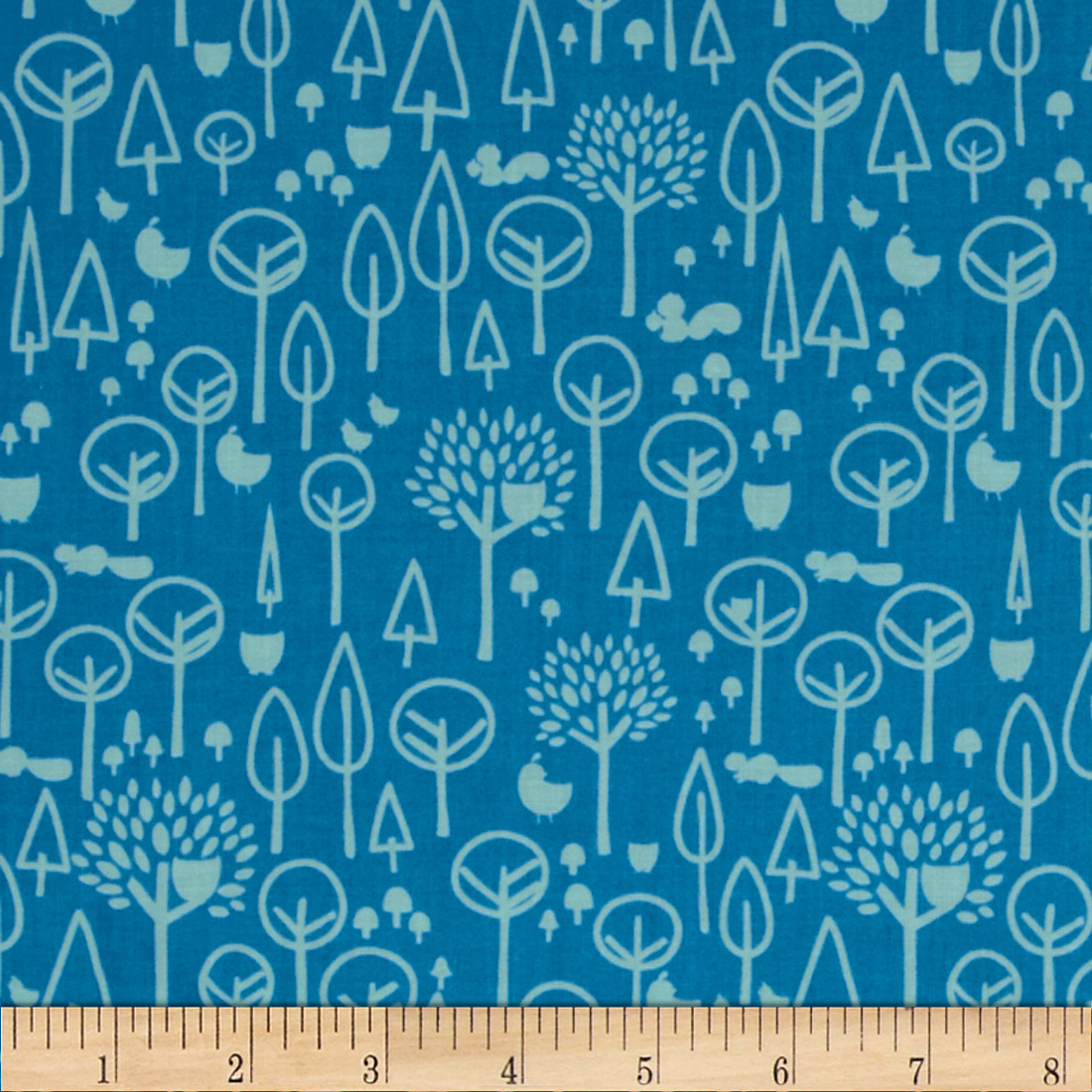 Riley Blake Scenic Route Trees Blue Fabric