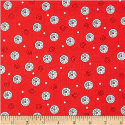 Sew What Bobbin Dots Red
