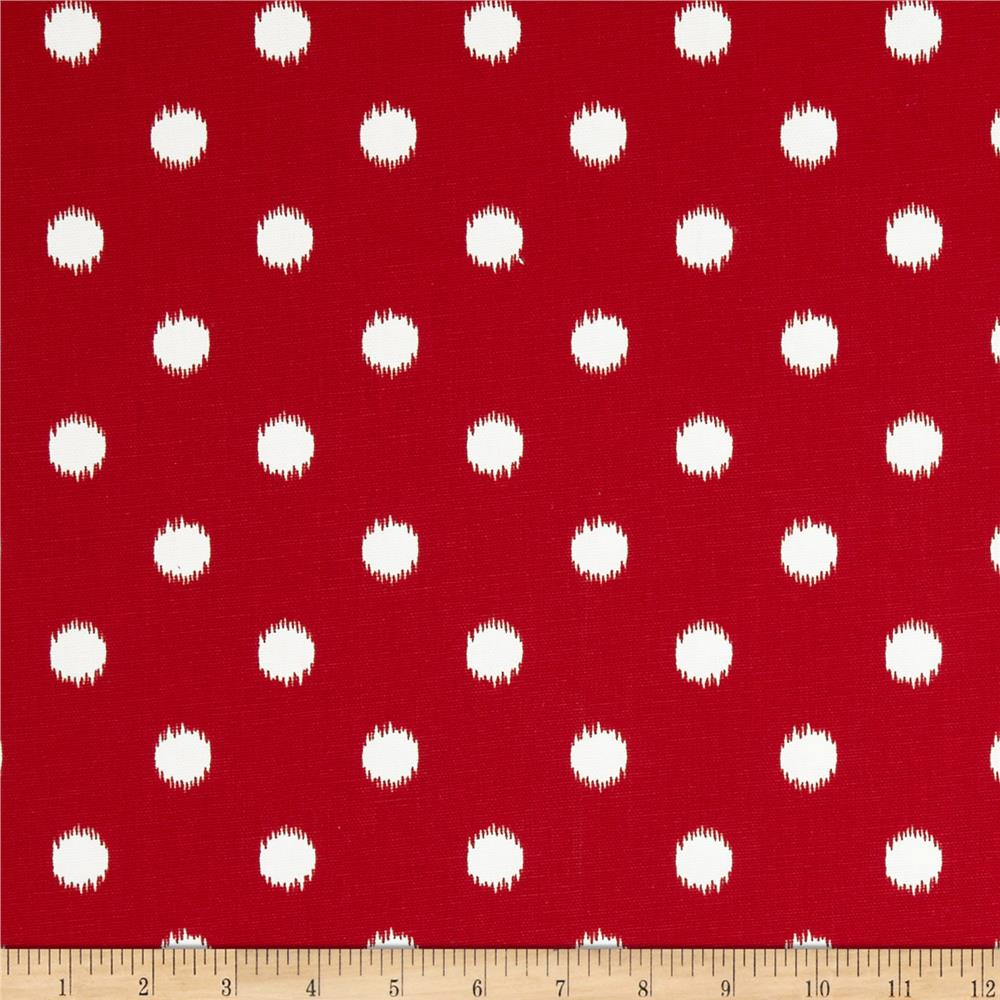 Premier Prints Ikat Dots Lipstick Red/White