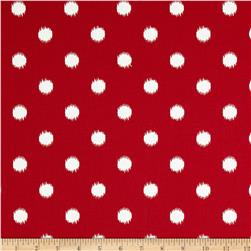 Premier Prints Ikat Dots Lipstick Red/White Fabric