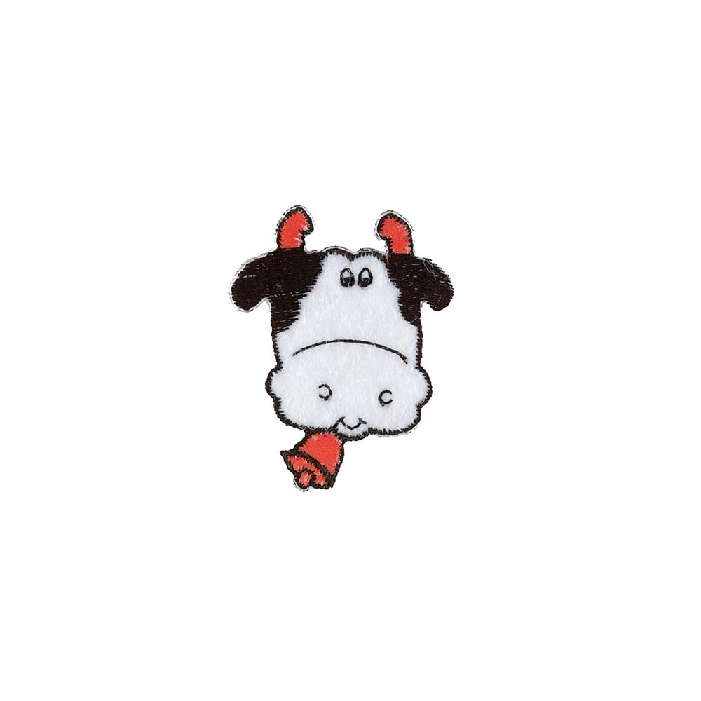 Cow with Bells Applique White
