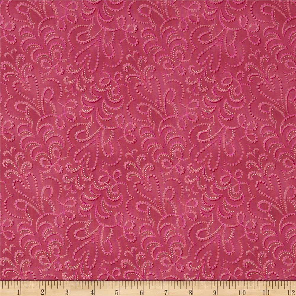 LaScala 5 Metallics Stippled Tonal Pink