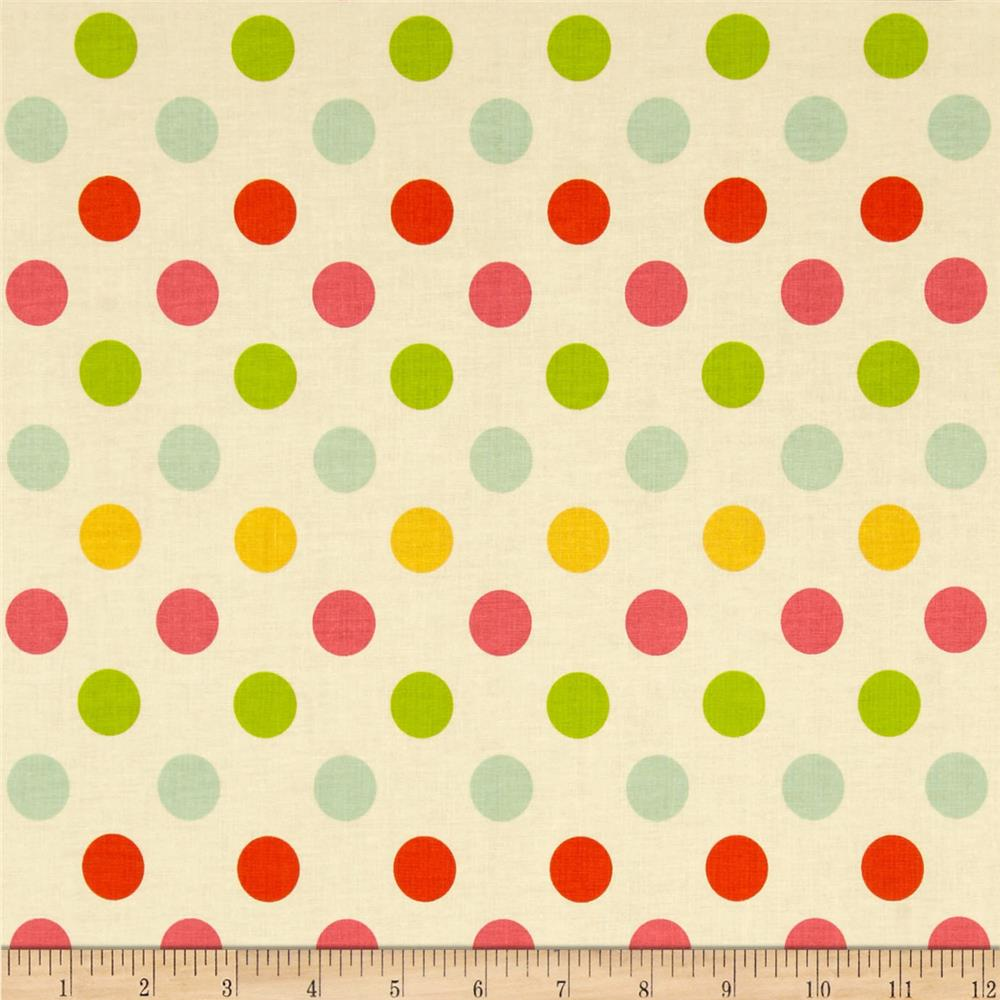 Riley Blake Medium Dot Cream/Multi