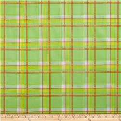 Oilcloth Scottish Plaid Orange