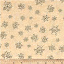 Moda Winter Forest Flannel Snowflakes Cream