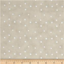 Silent Christmas Tossed Dots Grey/Blue