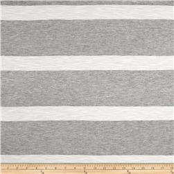 Jersey Knit Light Gray on White