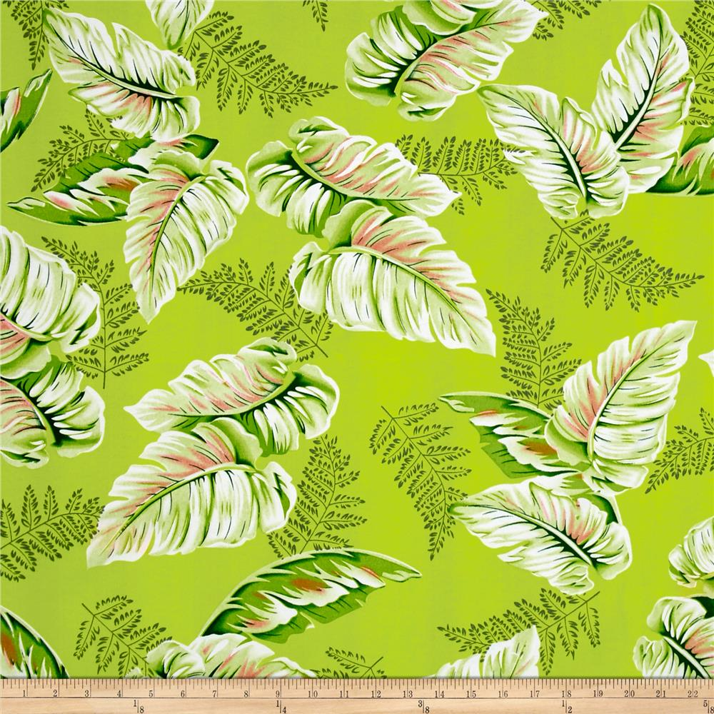 Tropical Dream Palm Shirting Lime